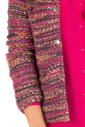 Set | Bouclé vest Ellen | roze