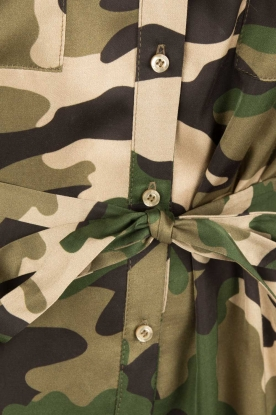 Set | Tuniek met legerprint Bonnie | groen