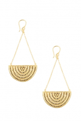Close to Zen |  22ct gold plated earrings Sunset Lover | gold