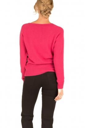 Set | Fijn gebreide kasjmieren trui Mona | roze