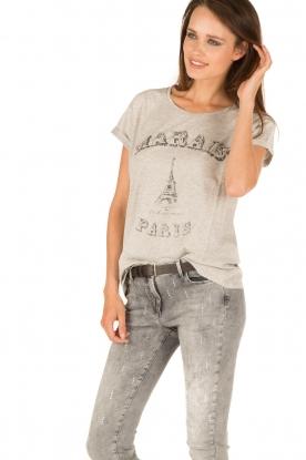 Set | T-shirt Marals Paris | grijs