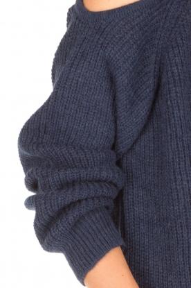 IRO | Trui met cut-out schouders Lineisy | blauw