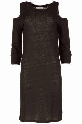 IRO |  Linen dress Girvin | black