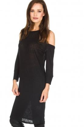 IRO | Linnen jurk Girvin | zwart