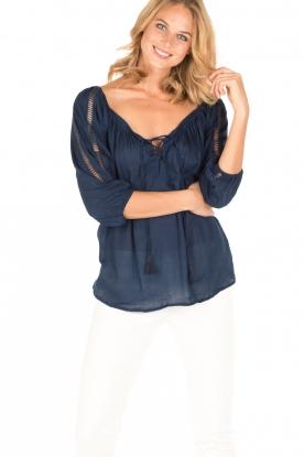 BEACHGOLD | Tuniek blouse Maisey | indigoblauw