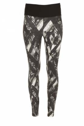 Casall |  Sports leggings Distorted Flower | grey