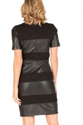 Arma | Leren jurk Bordey | zwart