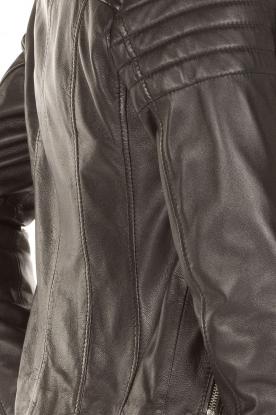 Arma | Leren bikerjas Lesley | zwart