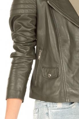 Arma | Leren bikerjas Lesley | groen