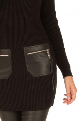 ELISABETTA FRANCHI | Jurk met col Cintura | zwart