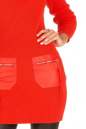 ELISABETTA FRANCHI | Jurk met col Cintura | rood