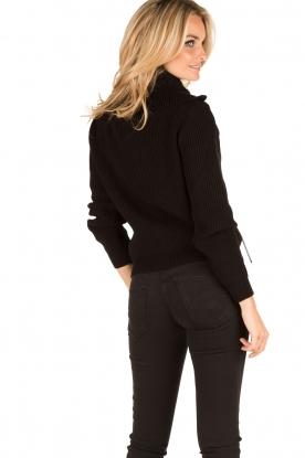 ELISABETTA FRANCHI | Vest Rosa Antico | zwart