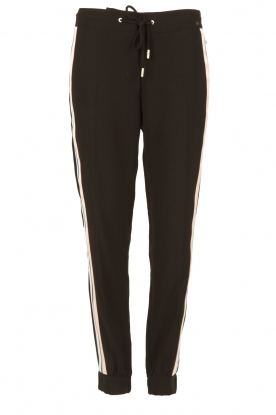 ELISABETTA FRANCHI |  Trousers with side stripes Linea | black