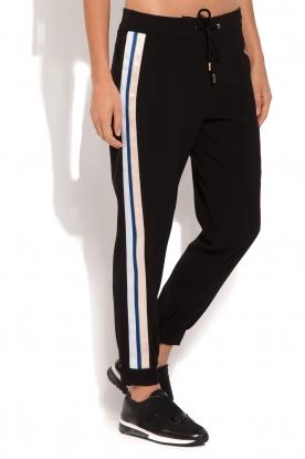 ELISABETTA FRANCHI | Pantalon met zijstrepen Linea | zwart