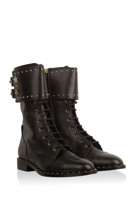 ELISABETTA FRANCHI | Leren laarzen Rischi | zwart