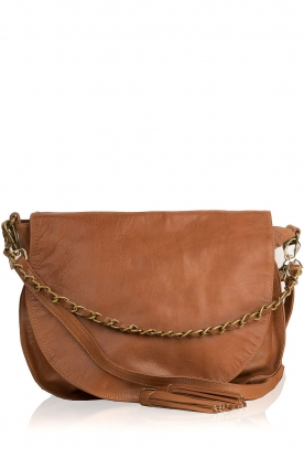 IKKS |  Leather shoulder bag Aurelia | camel