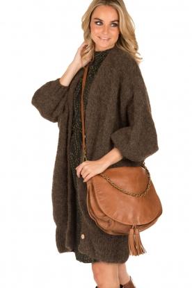 IKKS | Leren schoudertas Aurelia | camel