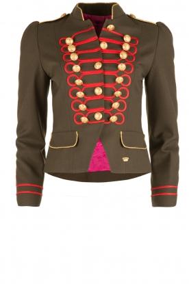 La Condesa | Blazer Beatle | legergroen/rood