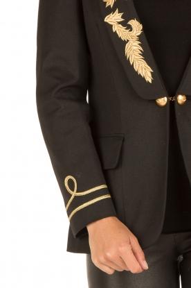 La Condesa | Blazer Smocking Comandante | zwart