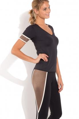 Deblon Sports | T-shirt Kate | zwart/goud