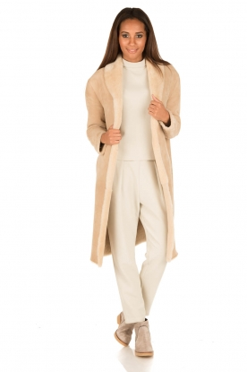 Ruby Tuesday | Tweezijdige lammy coat Winona | camel