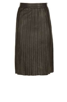 Ruby Tuesday |  Leather pleated skirt Orelia | black