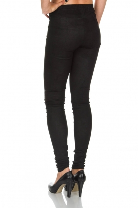 Ruby Tuesday | Leren legging Penny | zwart