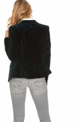 Hunkydory | Stretch fluwelen blazer Wilson | groen