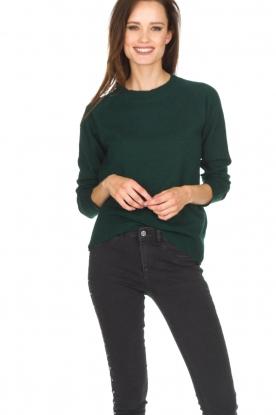 Hunkydory | Wollen trui Earl | groen