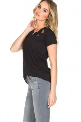 Hunkydory | Katoenen T-shirt Bumblebee | zwart