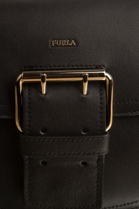 Furla | Leren schoudertas Hashtag | zwart
