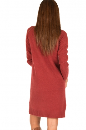Knit-ted | Jurk Bente | rood