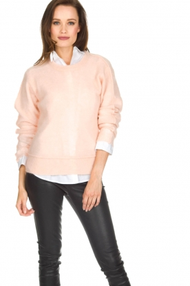 Knit-ted | Gebreide trui Babs | roze