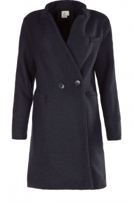 Knit-ted |  Coat Laura | blue