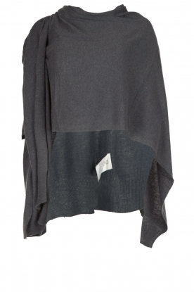 Knit-ted |  Wrap poncho Tara | grey