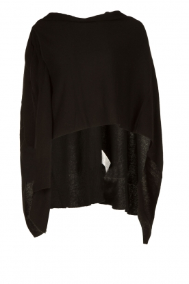 Knit-ted |  Wrap poncho Tara | black