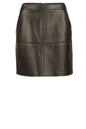 Knit-ted |  Faux leather skirt Olga | black