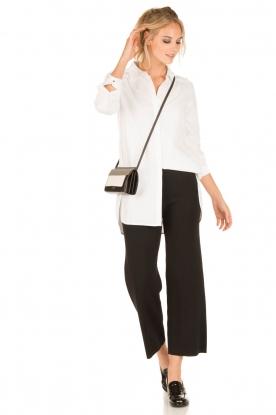 Knit-ted | Flared broek Baafje | zwart