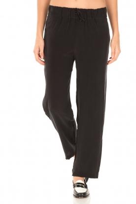 American Vintage | High waist broek Azawood | zwart