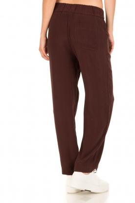 American Vintage | High waist broek Azawood | bordeaux rood