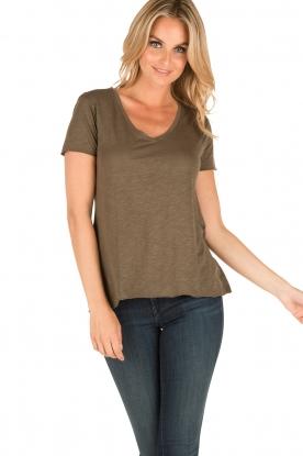 American Vintage | T-shirt Jacksonville | leger groen