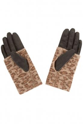 Becksöndergaard | Leren handschoen Barre | dierenprint