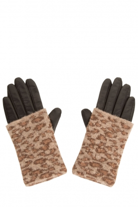 Becksöndergaard |  Leather gloves Barre | animal print