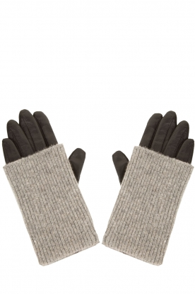 Becksöndergaard |  Leather gloves Barre | grey