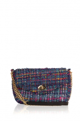 Becksöndergaard |  Boucle shoulder bag Fancy | blue