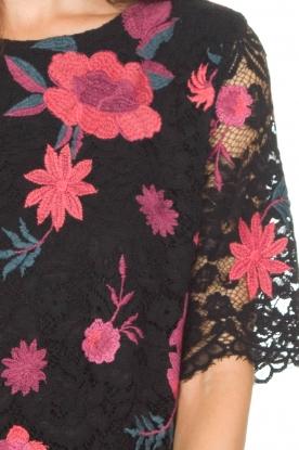 Ana Alcazar | Kanten jurk Senza | zwart