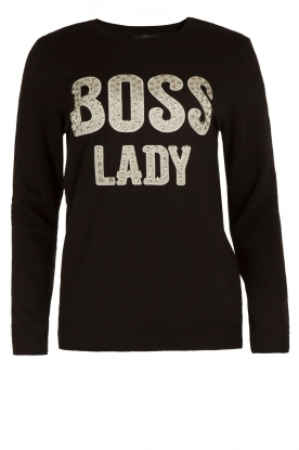NIKKIE | Sweater Boss Lady | zwart