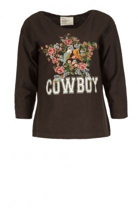 Leon & Harper |  Sweatshirt Cowboy | faded black