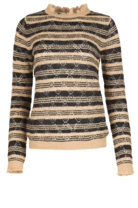 Leon & Harper |  Soft alpacawoollen sweater | blue
