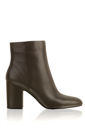 What For |  Leather ankle boot Achille | dark green